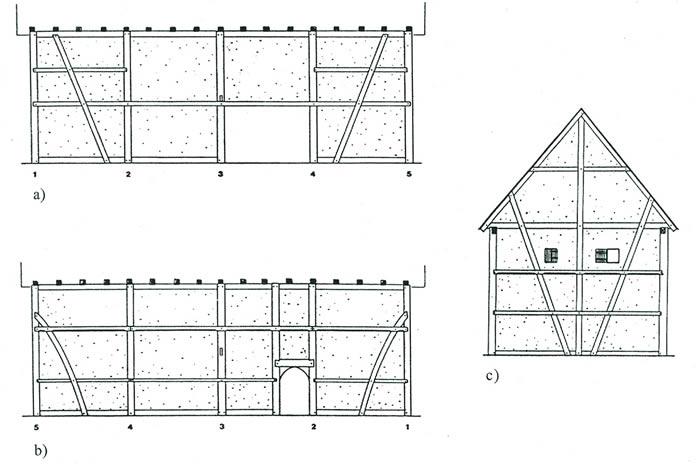 Projekt schellgasse freunde frankfurts for Fachwerkhaus skizze